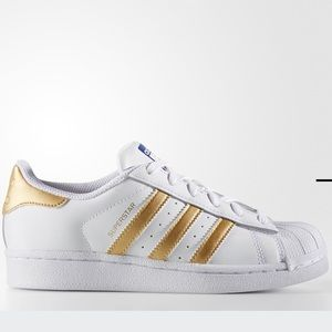 ADIDAS SUPER STAT CLOUD WHITE AND GOLD
